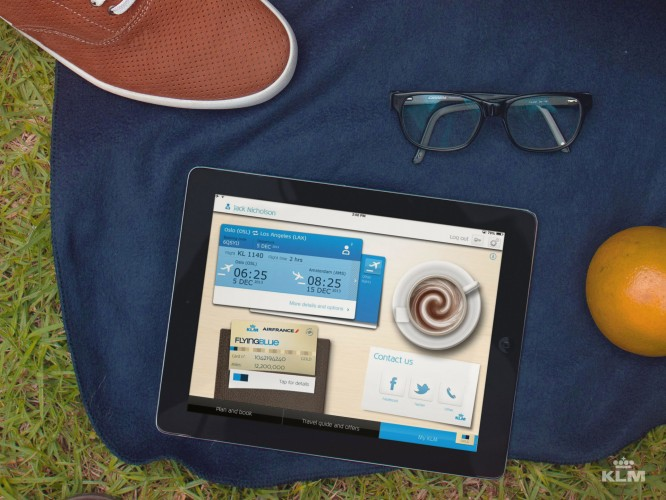 KLM lanserar Ipad-app