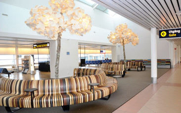 Hållbart designkoncept snyggar till Malmö Airport